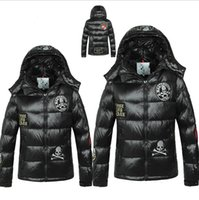 Wholesale Grand Big - Wholesale-2015 winter jacket women European Grand Prix in France big men and women couple models thick skull down jacket Hoodie yrf99