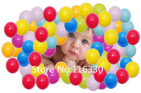 Wholesale-50pcs / lot 8cm Pit-Ball Plastic Toy Play Ball Eco-friendly Kinder Ozean-Kugel-Tent Water Pool Ocean Wave-Kugel Freies Verschiffen