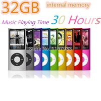 "Wholesale Green Screen Photos - mini 32GB 30 Hours music playing time MP3 mp4 player Slim1.8"" LCD screen 4th MP3 photo E-Book Music FM Radio Video"