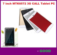 Wholesale Phone Tablets 8gb - 7 Inch 3G Phablet HD 1024x600 GSM WCDMA MTK6572 Dual Core Dual SIM Dual Cameras GPS Android 4.4 Phone Calling Tablet PC 8GB DHL