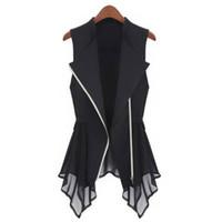 Wholesale Womens Plus Size Down Vests - MWSFH Plus Size Long Vest Womens Spring Summer Outwear New Women Vest Coat Europe sleeveless Long Cardigan Top Jackets Outerwear