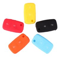 Wholesale New Vw Golf Cover Case - NEW Silicone 2 Button Remote Key Fob Case Shell Cover For VW Golf Passat Polo Jetta Free Shipping