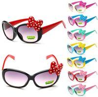 Wholesale Bow Glasses Frame - Bow Boys Sunglasses Cartoon Kids Goggle Girls Baby Glasses children Princess cute baby Sunglasses Goggle 8 Colors KKA3337