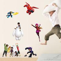 ingrosso adesivi dell'eroe-Adesivi murali grande eroe cartone animato per bambini nursery decalcomanie da parete adesivi arte parete Carta da parati Kids Party Decoration Natale 30 * 90cm