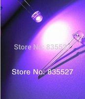 Wholesale Straw Lamp Led - Wholesale-1000PCS LOT 5MM straw hat LED lamp beads violet purple hair long legs F5 long legs 26-28mm