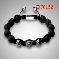Wholesale Cheap Silver Hand Chain - COOL bracelet for men hand made beads bracelets shamballa bracelet supplier cheap nialaya new style Natural stone bracelets FactoryZXF8152