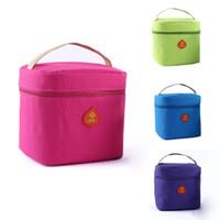 yalıtılmış piknik çantaları toptan satış-Toptan-Piknik Çantası Yalıtımlı Termal Öğle Yemeği Kutusu Soğutucu Depolama Tote