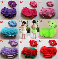 Wholesale Satin Ruffles Bloomer - free shipping hot sale fashion Baby Girls Pettiskirt Ruffle Panties Briefs Bloomer Diaper Satin Lace Cotton Diaper Covers