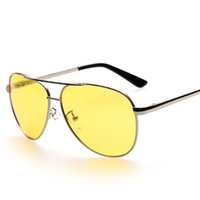 Wholesale Fashion Drivers - 2016 UV400 Polarized Sunglasses For Men And Women Day Night Vision Lens Driver Glasses Alloy Frame Outdoor Sport Eyewear y2081