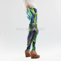 Wholesale Hot Sexy Leggins Galaxy - Wholesale-HOT Sexy Fashion 2015 Pirate Leggins Galaxy Pants Digital Printing Abstract Geometric Leggings For Women Pant