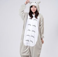 Wholesale One Piece Pajama Adult Onesie - Wholesale-1510 Japan Animal Anime Totoro Cosplay Pajamas One Piece Adult Onesie for Women Men Warm Christmas Halloween Party Pajama