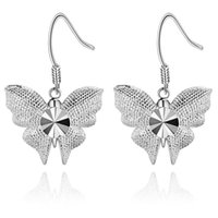 Wholesale car chandelier resale online - Foreign jewelry Plated Silver Earrings New Car butterfly earrings and hot spot AE1012