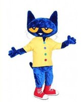 Wholesale Cat Mascot Costume Fancy Dress - High quality Pete the Cat Mascot Costume Fancy Dress,free shipping,factory direct christmas costumes