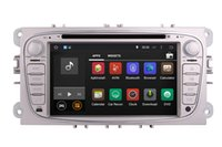 Wholesale Sat Nav Charger - Android 4.4 Car DVD Player GPS Navigation for Ford Focus Mondeo S-Max with Radio Bluetooth Map USB SD AUX Video Sat Nav