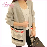 Wholesale Shrug Womens Cardigan - long cardigan winter sweater 2017 womens fall fashion knitted cardigan Long-sleeve shrug womens poncho maxi cardigan 2016