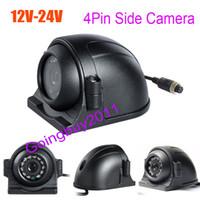 Wholesale camera side car online - 4Pin LED Side Car Rear View Parking Backup Camera For Truck Bus Monitor V V Free Shippnig