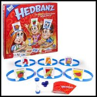Wholesale Multi Games Card - New Hedbanz Guess Game For Baby Interesting Family Party Poopyhead Board Game Trading Card Games CCA8329 52pcs
