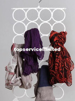 Wholesale Scarves Organizer Rings - Scarf Wraps Shawl Storage Hanger Organizer 28-hole Ring Rope Slots Holder Hook