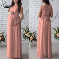 Wholesale Maternity Dresses For Party S - Maternity Dress Autumn Maternity Party Dress Solid High Split Design For Graceful Mom Patchwork Long Dresses