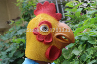 Wholesale Latex Chicken Mask - 2015 new chicken mask Chicken Head Rubber Latex Halloween Costume Mask Prop Theater mask novelty free shipping