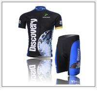 Wholesale Discovery Cycling Jersey Bib Shorts - Discovery Cycling Jerseys Set High Quality Cycling Clothes Short Sleeve Bicycle Jersey Short Ciclismo Jersey Cycling (Bib) Shorts Kit