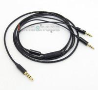 Wholesale Sol Headphones V8 - Black 5N OFC With Mic Remote Cable For Sol Republic Master Tracks HD V8 V10 V12 X3 Headphone