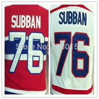 Wholesale Kids Size Hockey Jerseys - Factory Outlet, Cheap 2014 Youth Hockey Jerseys 76 P.K Subban Jersey Red Home Away White Color Kids Ice Hockey Subban Boys Jersey Size S-XL