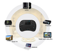 Wholesale Cheap Tv Remotes - Cheap Mini Rii i8 Wireless Keyboard 2.4G English Air Mouse Keyboard Remote Control Touchpad For Smart Android TV Box Notebook Tablet Pc