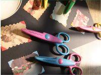 Wholesale Lace Edge Scissors - free shipping 6 design option Decorative Wave lace Edge Craft school Scissors DIY for Scrapbook Handmade Kids Artwork Card Safe