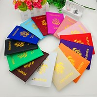Wholesale friendly cards case - PU Passport Protective Cover Universal Square ID Card Case United States Of America Passports Covers Hot Sale 2 8kf B