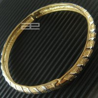 Wholesale 9ct Gold - 9K 9CT Yellow Gold filled 60MM Dia. Can Open Elegant Bangle G24