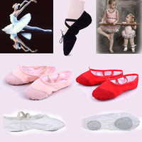 Wholesale Girls Soft Ballet Shoes - Dance Girl Ballet Dance Shoes For Girls Ladies Anti-Slip Soft And Comfortable 5 Colors Ballet Dance Shoes Children Shoes Girls Dance shoes