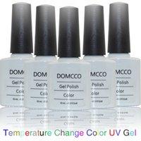 color changing nail gel بالجملة-6 قطعة / الوحدة جودة عالية نقع معطلة الحرارة تغيير لون uv gel nail البولندية