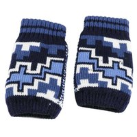 Wholesale Winter Warm Knit Gloves Mens - Wholesale-New brand 2015 fashion Mens gloves Winter Knitted Mittens for men Warmer Arm Fingerless Gloves