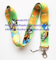 """Wholesale Chain Protectors - Free shipping Wholesale 10pcs Goofy Lanyard Styles Key Chain ID Badge Holder Protector 18"""" mobile phone charms straps S#34"""