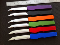 Wholesale v knife resale online - Cncostco Custom V T E Full size satin Plain knife Tanto Edge single action Tactical knives with original box