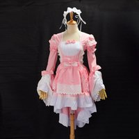 Wholesale Lolita Cosplay Free Shipping - Ladies Princess Dovetail Dress Lolita Maid Dress Halloween Cosplay Party for Women Free Shipping High Quality New