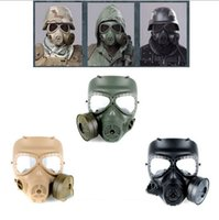 Wholesale Airsoft Paintball Dummy GasMask Fan Cosplay Protection Wargame Zombie soldiers Halloween Masquerade Resident Evil Antivirus Skull