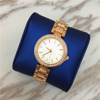 Wholesale Sliver Chain Watch - New Arrival Top Luxury Sliver Rose gold women watch Shine diamonds Steel Bracelet Chain wristwatches famous brand Free shipping High Quality