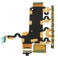 Wholesale Fits Power Cables - New Power on off Button Connector Volume Flex Cable Fit For Sony Z1 Series Free Shipping