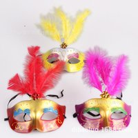 Vente en gros Halloween Party Masks 2016 Nouveau Arrive Fashion Feather Sexy Pour Party Accessoires Half Mask Pour Femmes Hot Sale En Stock