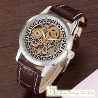 Wholesale Automatic Watches Boys - 40mm MCE Men's Boys Classical Auto Self-Winding Mechanical Wrist Watch