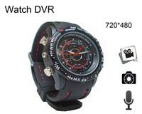 Wholesale 4gb Mini Watch Video Recorder - New Built-in 4GB 8GB Mini DV Recorder Video Camera Waterproof Spy Watch camera mini spy camera recorder Free Shipping