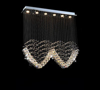 Wholesale Led Heart Chandelier - LED K9 crystal chandeliers lights heart wedding lights modern romantic lamp living roon dinner light fixtures L1000*W200*H1000MM