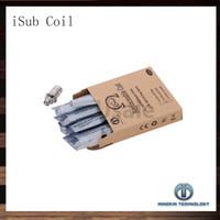 innokin ohm coil toptan satış-Innokin iTaste iSub Sub ohm Bobin 0.2ohm 0.5ohm 2.0ohm iSub iSub Tankları Için Yedek Bobinler 100% Orijinal