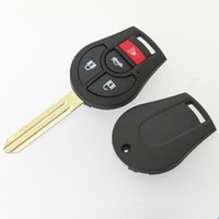 Wholesale Nissan Free Key Case - High quality car key case for Nissan 3+1 button remote key blank shell FOB key cover 25pcs lot free shipping