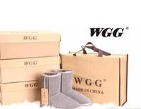 çizmeler xmas hediye toptan satış-Ucuz Stokta yüksek kalite Xmas hediye Yarım Çizmeler 11 renk Kış Kar Botları seksi WGG bayan kar botları Kış sıcak Çizme pamuk yastıklı ayakkab ...