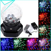 Wholesale Led Rechargeable Dj - Wholesale-with MP3 Player RGB LED Crystal Magic Ball Light Effect Party DJ 110V-240V Auto Voice-activated Rechargeable Stage Lighting