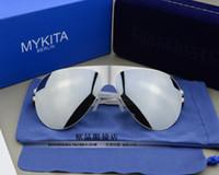 освещенные солнцезащитные очки оптовых-Бесплатная доставка немецкий Mykita солнцезащитные очки Солнцезащитные очки супер свет водитель мужские и женские солнцезащитные очки