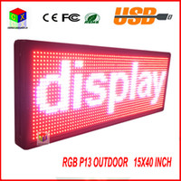 4500 CD outdoor message boards - P13 Fully Outdoor x quot FULL COLOR Programmable LED Sign Commercial IMAGE TEXT SCROLLING Message Board Display for Window